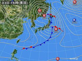 実況天気図(2015年12月03日)