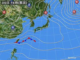 実況天気図(2015年12月06日)