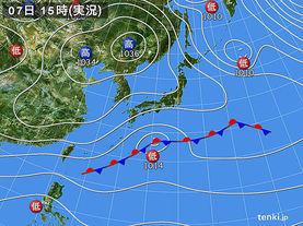 実況天気図(2015年12月07日)