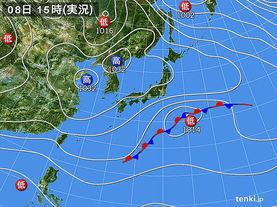 実況天気図(2015年12月08日)
