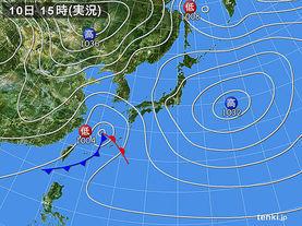 実況天気図(2015年12月10日)