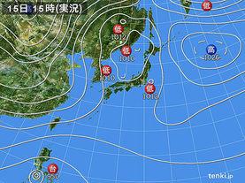 実況天気図(2015年12月15日)