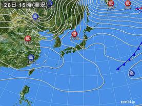 実況天気図(2015年12月26日)