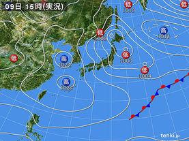 実況天気図(2016年02月09日)