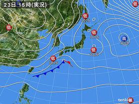 実況天気図(2016年02月23日)