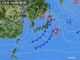 実況天気図(2016年02月29日)