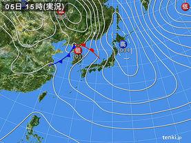 実況天気図(2016年03月05日)