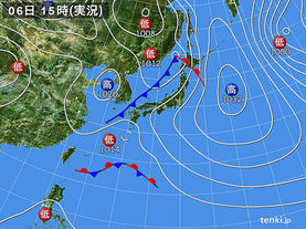 実況天気図(2016年03月06日)
