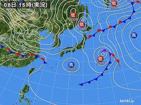実況天気図(2016年03月08日)