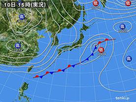 実況天気図(2016年03月10日)