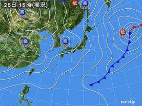 実況天気図(2016年03月25日)