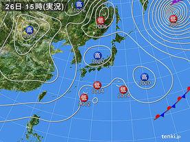 実況天気図(2016年03月26日)