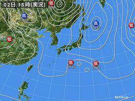 実況天気図(2016年04月02日)