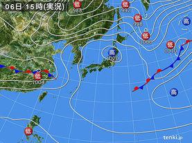 実況天気図(2016年04月06日)