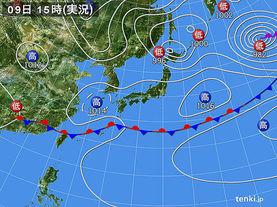 実況天気図(2016年04月09日)