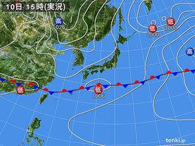 実況天気図(2016年04月10日)