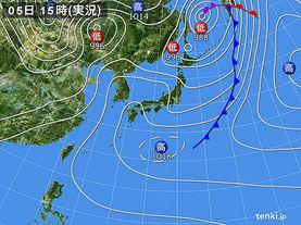 実況天気図(2016年05月05日)