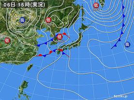実況天気図(2016年05月06日)