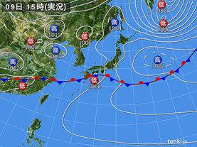実況天気図(2016年05月09日)