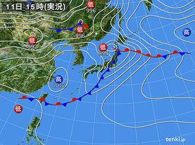 実況天気図(2016年05月11日)