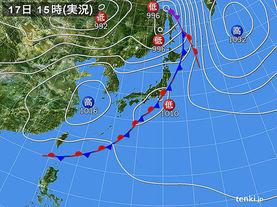 実況天気図(2016年05月17日)