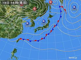 実況天気図(2016年05月18日)