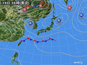 実況天気図(2016年05月19日)