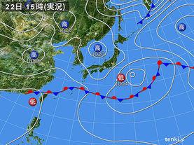 実況天気図(2016年05月22日)