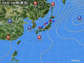 実況天気図(2016年05月26日)