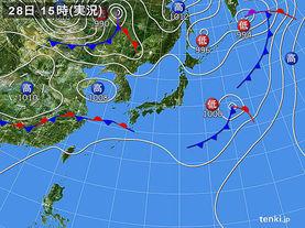 実況天気図(2016年05月28日)
