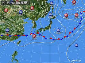 実況天気図(2016年05月29日)