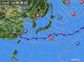 実況天気図(2016年05月30日)