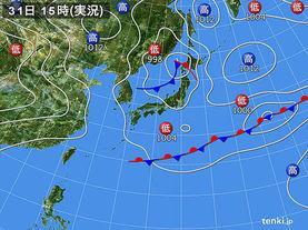 実況天気図(2016年05月31日)