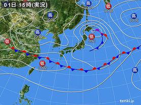 実況天気図(2016年06月01日)