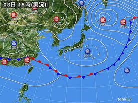 実況天気図(2016年06月03日)