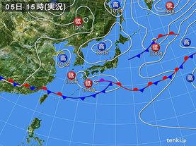 実況天気図(2016年06月05日)