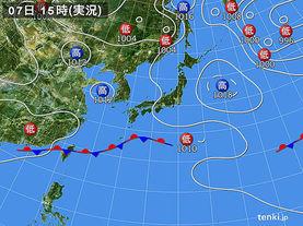 実況天気図(2016年06月07日)