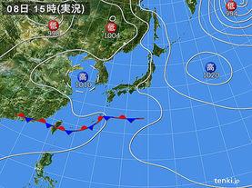 実況天気図(2016年06月08日)