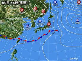 実況天気図(2016年06月09日)