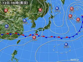 実況天気図(2016年06月12日)