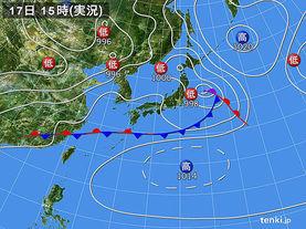 実況天気図(2016年06月17日)