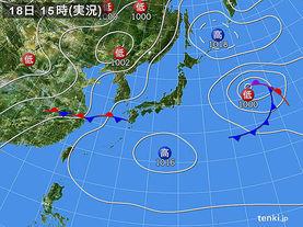 実況天気図(2016年06月18日)