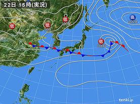 実況天気図(2016年06月22日)