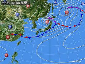 実況天気図(2016年06月25日)