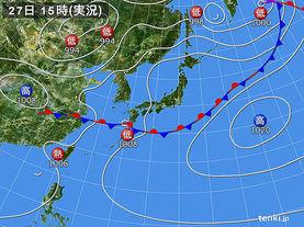 実況天気図(2016年06月27日)