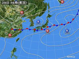 実況天気図(2016年06月28日)