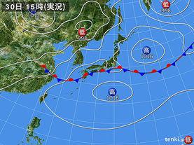 実況天気図(2016年06月30日)