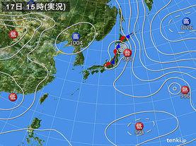 実況天気図(2016年08月17日)