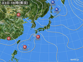 実況天気図(2016年09月03日)