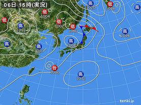 実況天気図(2016年09月06日)